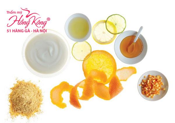 Mặt nạ vỏ cam, sữa chua và mật ong cho da trắng sáng, mịn màng