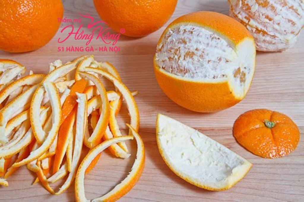 Vỏ cam chứa các chất dinh dưỡng và chất chống oxy hóa cao cho da