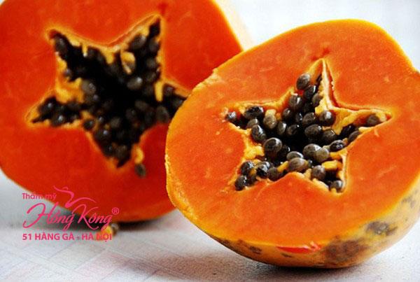 Quả đu đủ có chứa lượng beta caroten nhiều hơn trong các loại qua củ quả khác