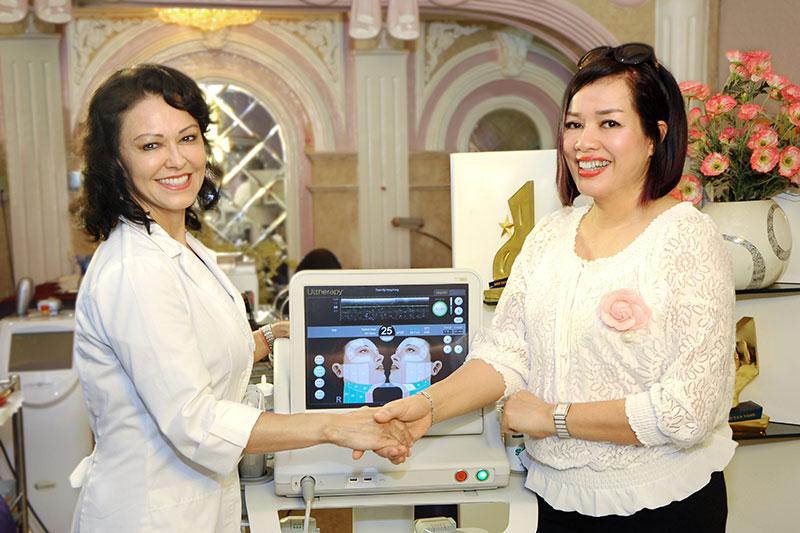 nâng cơ mặt không phẫu thuật Ultherapy tại Thẩm mỹ Hồng Kông 51 Hàng Gà