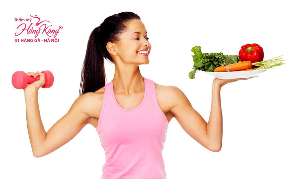 Ăn uống và tập luyện giúp giảm béo mặt hiệu quả