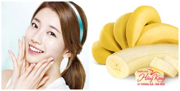 Trong chuối có chứa nhiều vitamin A, C, B6, kali giúp ngăn ngừa nếp nhăn