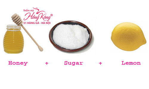 Chanh + đường + mật ong