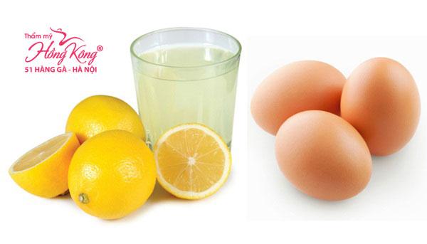 Chanh + lòng trắng trứng gà