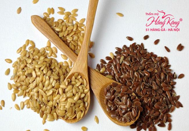 Hạnh lanh là một trong những thảo dược chứa nhiều Phytoestrogen giúp ngăn cản lông phát triển