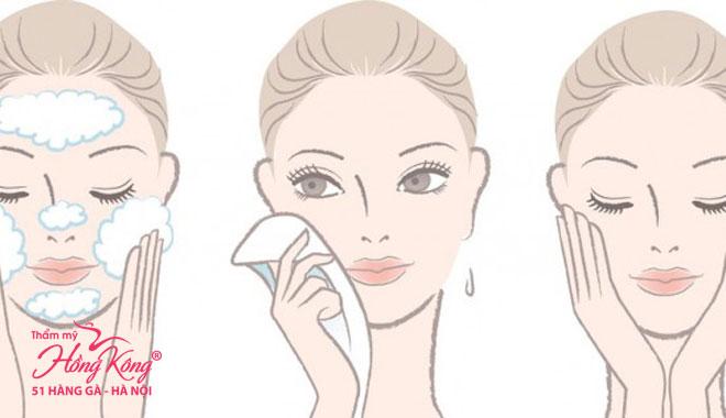 Rửa mặt đúng cách cũng giúp chống nếp nhăn hiệu quả