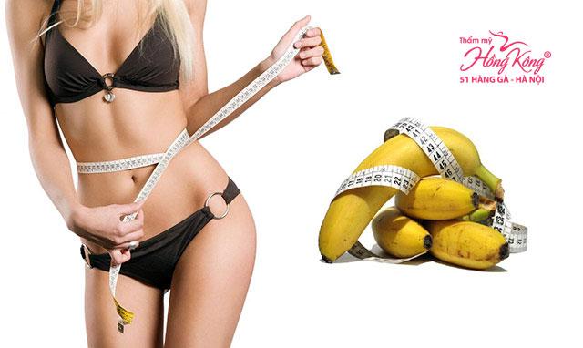 Chuối vừa giúp giảm cân vừa loại bỏ mỡ bụng hiệu quả