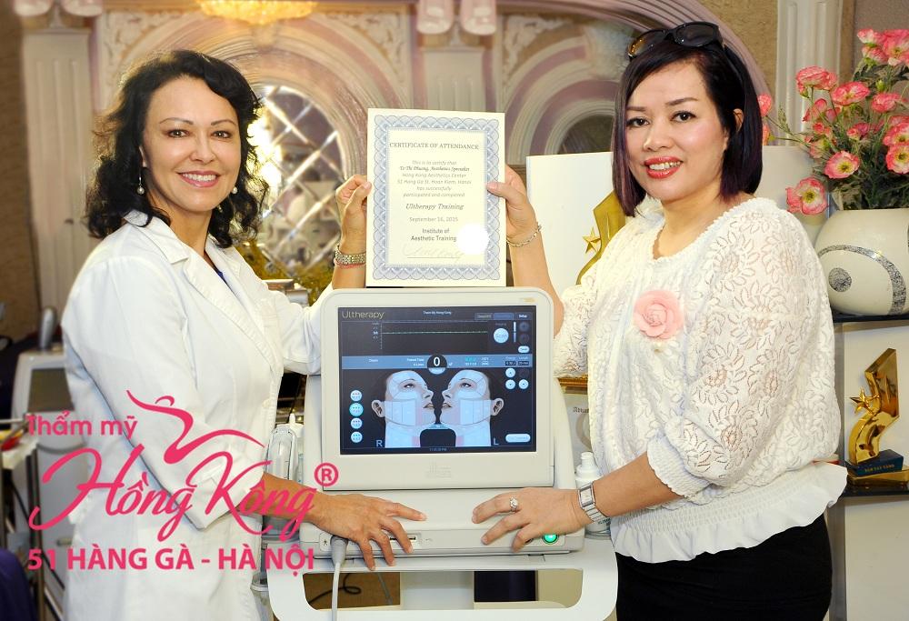 Thẩm mỹ Hồng Kông là đơn vị đầu tiên nhận chuyên giao công nghệ Ultherapy tại Việt Nam