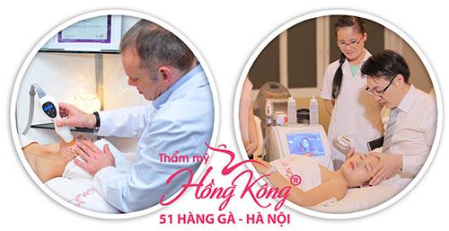 Khách hàng trẻ hóa da bằng công nghệ cao tại Thẩm mỹ Hồng Kông