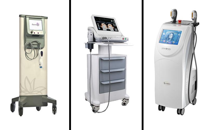 Từ trái qua phải: Thermage, Ultherapy, HIFU Ultraformer - 3 công nghệ căng da cổ đang được ứng dụng tại Thẩm mỹ Hồng Kông 51 Hàng Gà