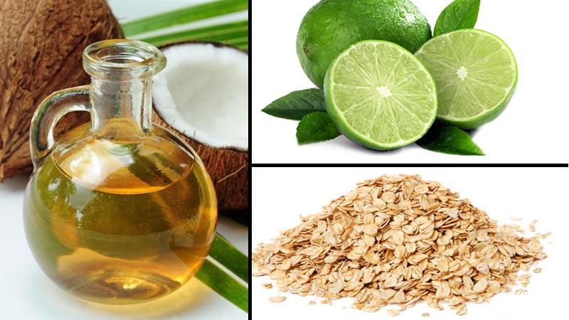 Chống lão hóa da với dầu dừa, chanh, bột yến mạch nên thực hiện mỗi tuần 2 lần