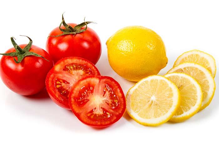 Chống lão hóa với cà chua và chanh rất thích hợp với những người có làn da sẫm màu