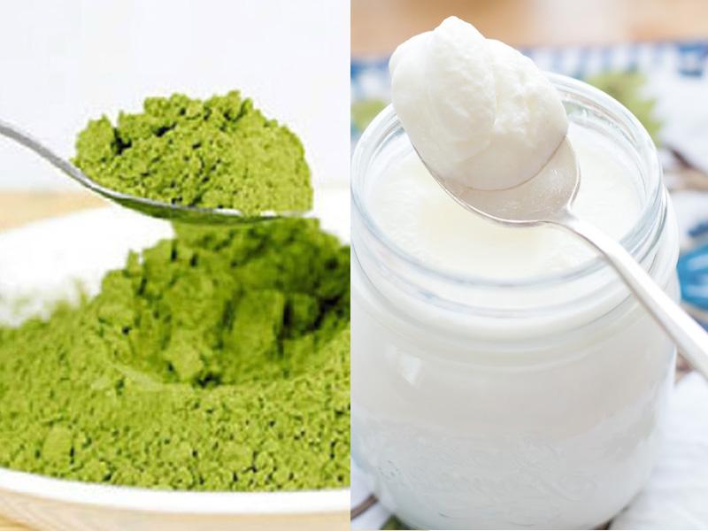 Có thể chống lão hóa bằng mặt nạ bột trà xanh và sữa chua không đường