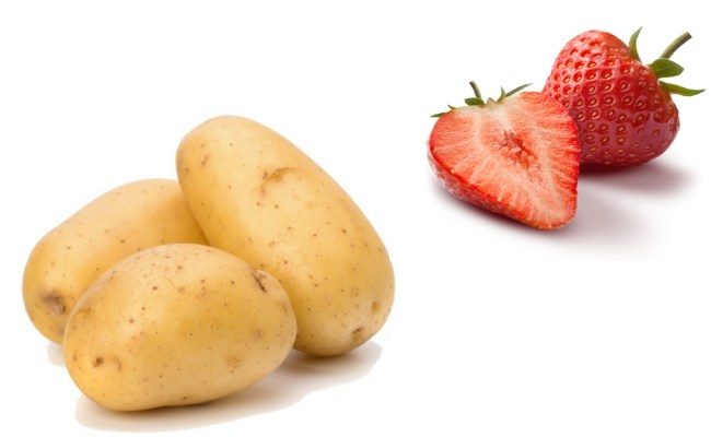 Bạn có thể trị mụn bằng khoai tây kết hợp với dâu tây