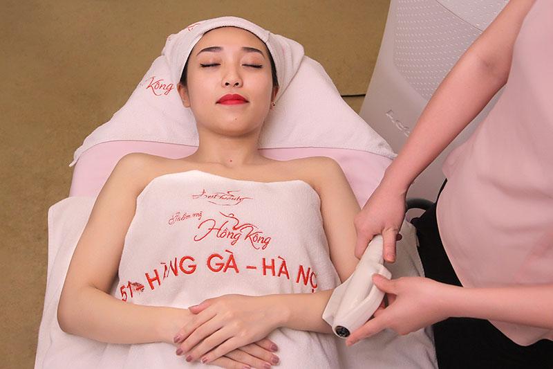 Khách hàng sẽ được sử dụng dịch vụ tốt nhất khi triệt lông tại Thẩm mỹ Hồng Kông 51 Hàng Gà