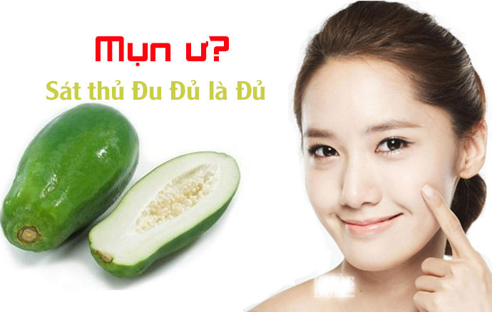 Đu đủ xanh chứa rất nhiều các khoáng chất và vitamin A, B có lợi cho da