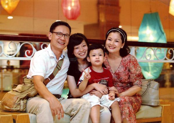 Gia đình nhỏ của Nghệ sỹ Thu Quế