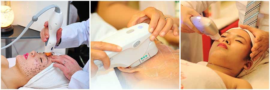 Khách hàng trải nghiệm dịch vụ căng da mặt tại thẩm mỹ Hồng Kông