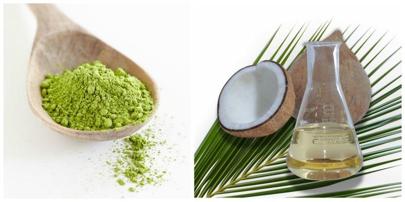 Trẻ hóa làn da bằng trà xanh và dầu dừa