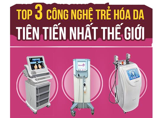 Bộ 3 công nghệ trẻ hóa da Thermage, Ultherapy & HIFU Ultraformer