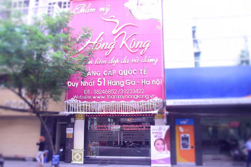 Thẩm mỹ Hồng Kông - địa chỉ duy nhất 51 Hàng Gà, Hoàn Kiếm, Hà Nội