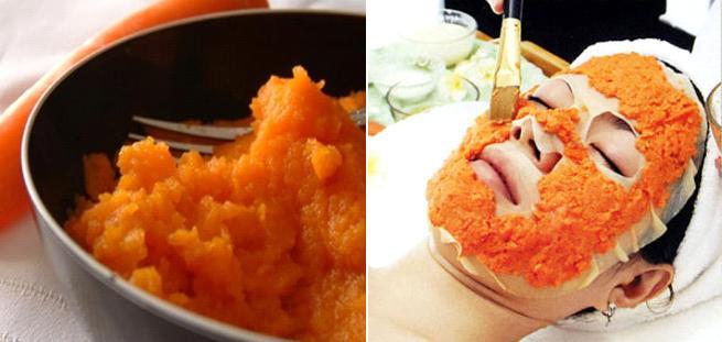 """Củ cà rốt được các chuyên gia da liễu nhận định là """"thần dược"""" trị mụn cám và các loại mụn khác cho hiệu quả tốt"""