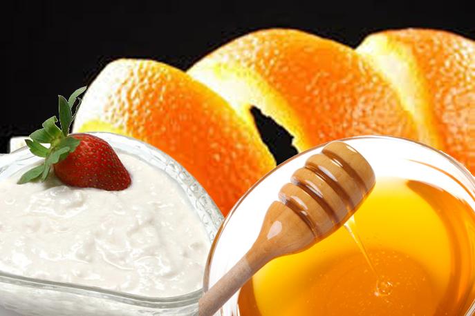 Mặt nạ vỏ cam + sữa tươi + mật ong
