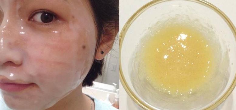 Mặt nạ nước cơm và mật ong