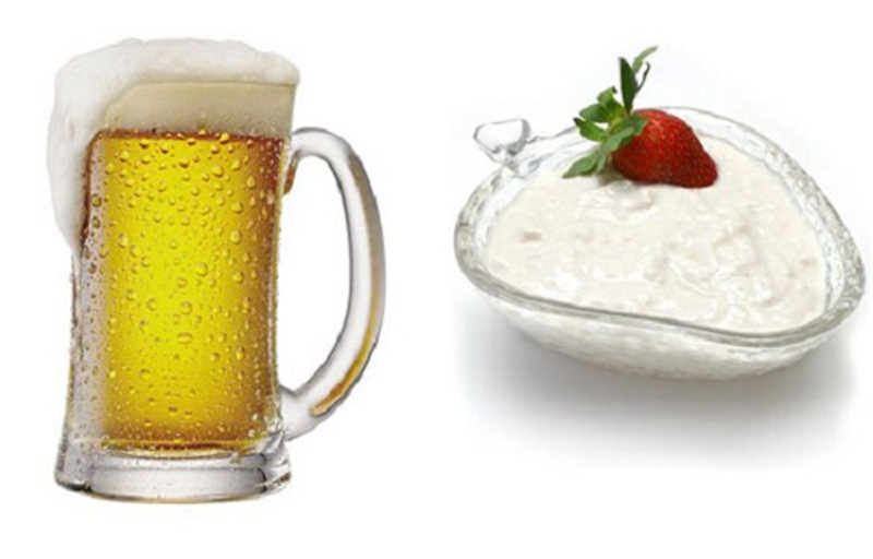 Mặt nạ trị mụn từ bia và sữa chua không đường