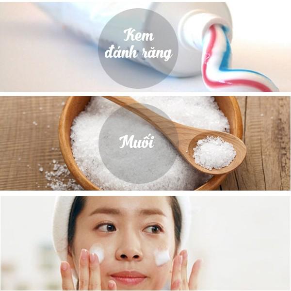 Kem đánh răng + muối: Cách trị mụn sau sinh hiệu quả hơn cả mỹ phẩm đắt tiền