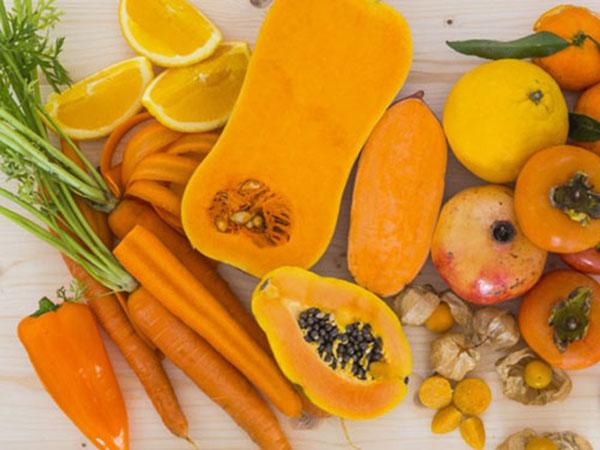 Các loại rau quả màu cam chứa nhiều vitamin A, C, E, beta caroten