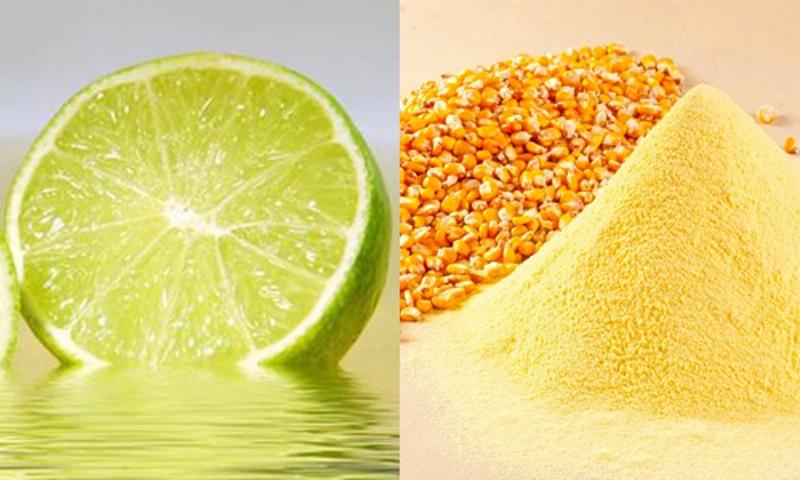 Sự kết hợp độc đáo giữa bột ngô và nước cốt chanh sẽ mang đến cho bạn làn da trắng sáng và đẹp tự nhiên