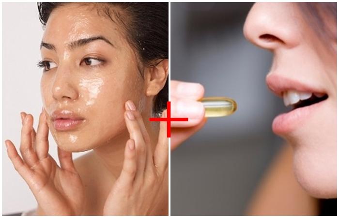 Bổ sung vitamin E bằng cách uống trực tiếp hoặc bôi lên da