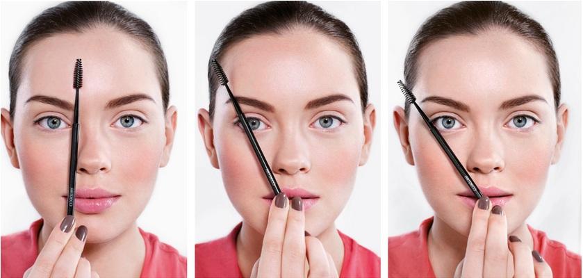 Lông mày cánh cung có đường gấp rõ nét ở gần đuôi lông mày giúp kéo dài gương mặt tròn