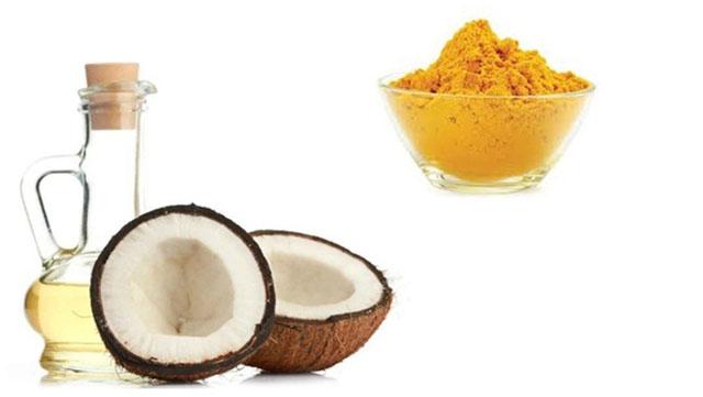Mặt nạ dầu dừa và nghệ