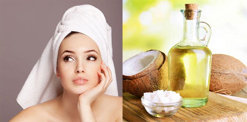 Vitamin E trong dầu dừa có khả năng đề kháng cho da, giảm nếp nhăn và các vùng da bị chảy xệ