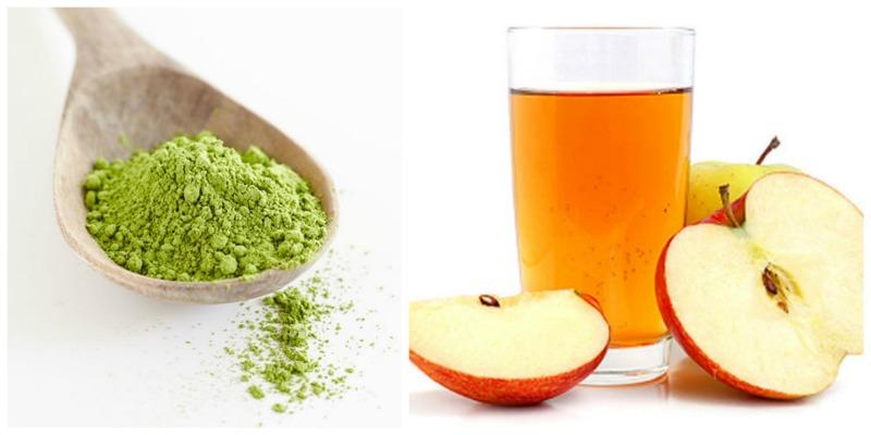 Chỉ cần đắp mặt nạ giấm táo và bột trà xanh thường xuyên, những nốt mụn xấu xí và vết thâm sẽ không còn quấy rối bạn nữa.