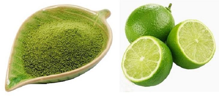 Mặt nạ bột trà xanh và nước cốt chanh trị mụn hiệu quả