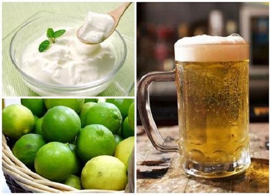 Mặt nạ bia, nước cốt chanh và sữa chua