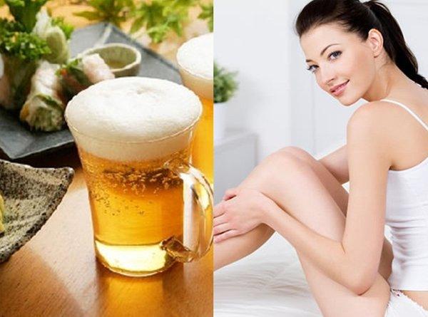 Trong bia có chứa chất chống oxy hóa, giúp làm chậm quá trình lão hóa da,
