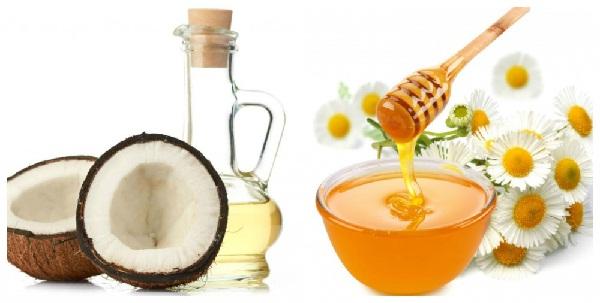Măt nạ dầu dừa, mật ong và lòng trắng trứng