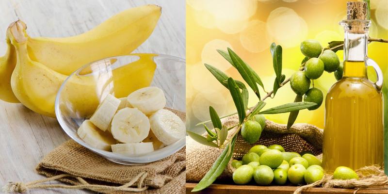 Mặt nạ trẻ hóa da từu dầu oliu và chuôi