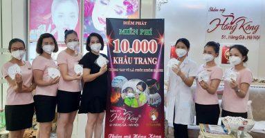 Thẩm mỹ Hồng Kông – 51 Hàng Gà, Hà Nội phát động  chiến dịch phát miễn phí 10.000 khẩu trang chống bụi mịn